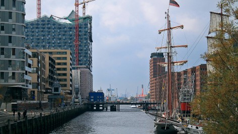Hamburg Hafen City View Landschafts Foto city